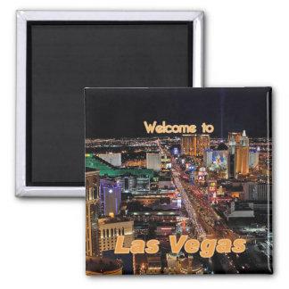 Bande de Las Vegas la nuit Magnet Carré