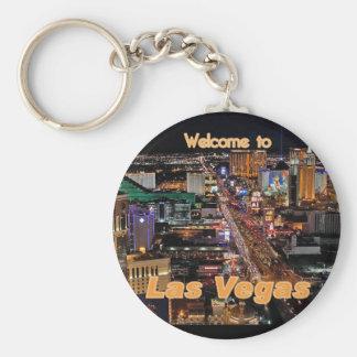 Bande de Las Vegas la nuit Porte-clé Rond