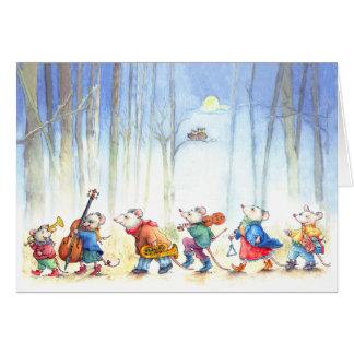 Bande de musique de souris - carte de voeux des en
