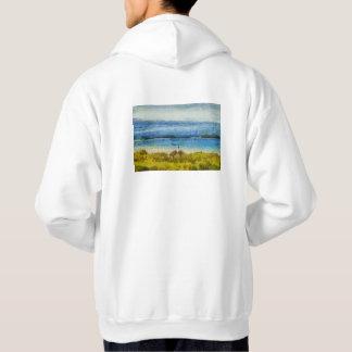 Bande de terre dans l'eau veste à capuche