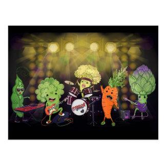 Bande de végétalien de roche carte postale