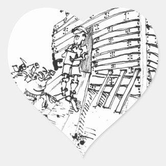 Bande dessinée 1035 de rapport sticker cœur