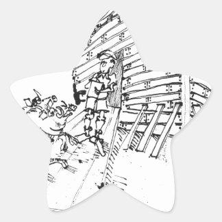 Bande dessinée 1035 de rapport sticker étoile
