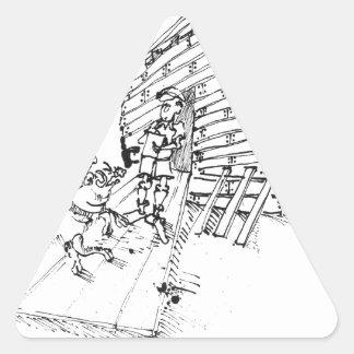 Bande dessinée 1035 de rapport sticker triangulaire