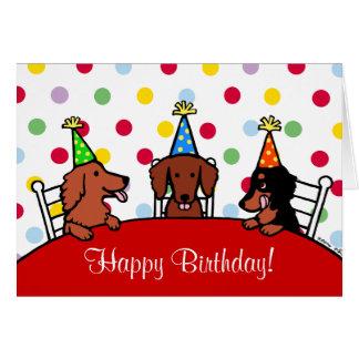 Bande dessinée 1 d'anniversaire de teckel carte de vœux