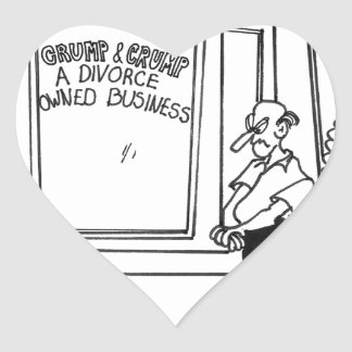 Bande dessinée 2458 de divorce sticker cœur
