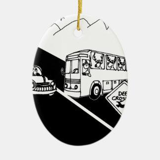 Bande dessinée 3251 d'autobus ornement ovale en céramique