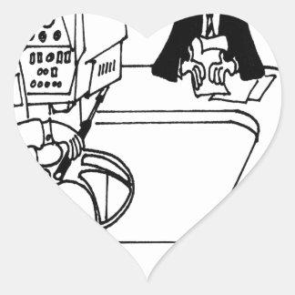 Bande dessinée 4155 de nouvelles sticker cœur