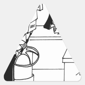 Bande dessinée 4155 de nouvelles sticker triangulaire