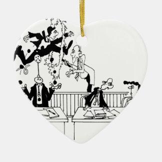 Bande dessinée 5314 de loi ornement cœur en céramique