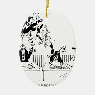 Bande dessinée 5314 de loi ornement ovale en céramique