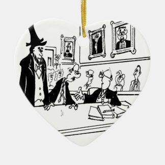 Bande dessinée 5488 de Lincoln Ornement Cœur En Céramique
