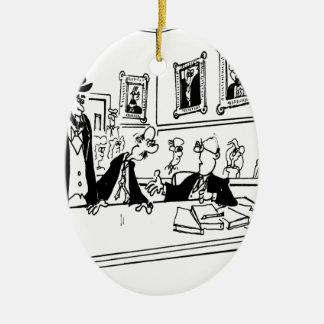 Bande dessinée 5488 de Lincoln Ornement Ovale En Céramique