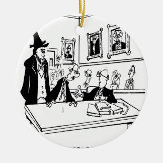 Bande dessinée 5488 de Lincoln Ornement Rond En Céramique
