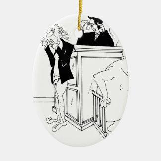Bande dessinée 5490 de cour ornement ovale en céramique