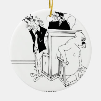 Bande dessinée 5490 de cour ornement rond en céramique