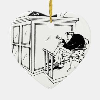 Bande dessinée 5495 de crime ornement cœur en céramique