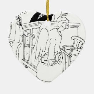 Bande dessinée 5621 de cour ornement cœur en céramique