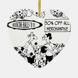 Bande dessinée 6241 de boule ornement cœur en céramique