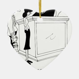 Bande dessinée 6485 de divorce ornement cœur en céramique