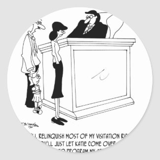 Bande dessinée 6485 de divorce sticker rond