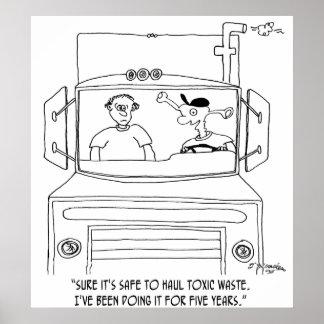 Bande dessinée 7395 de camionneur poster