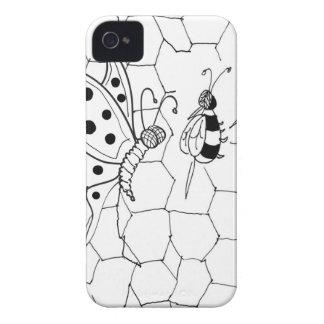 Bande dessinée 8922 de papillon coque iPhone 4