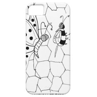 Bande dessinée 8922 de papillon coque iPhone 5 Case-Mate