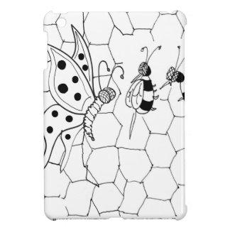 Bande dessinée 8922 de papillon coque pour iPad mini
