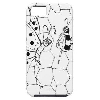 Bande dessinée 8922 de papillon iPhone 5 case