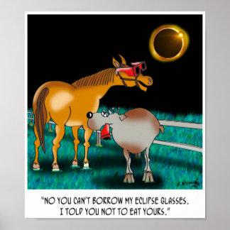 Bande dessinée 9525 d'éclipse poster