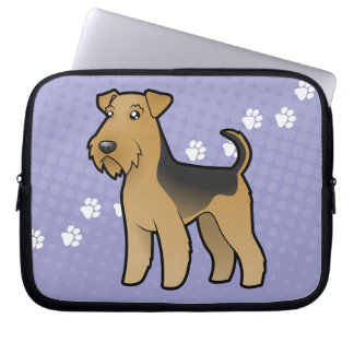 Bande dessinée Airedale Terrier/gallois Terrier Trousses Ordinateur
