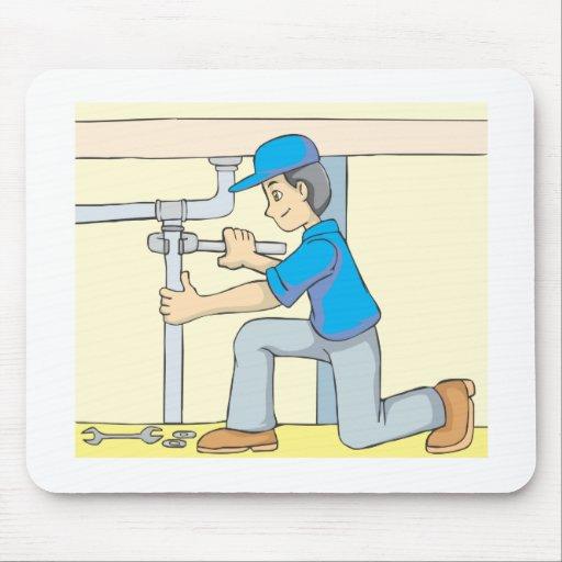 Bande dessin e amicale de plombier tapis de souris zazzle for Surface minimum bureau code du travail