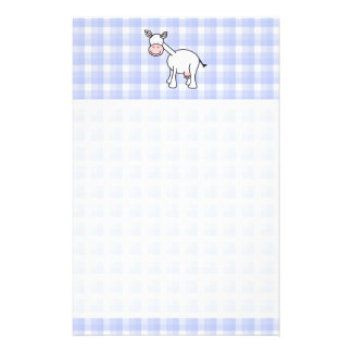 Bande dessinée blanche de vache Fond bleu de guin Papiers À Lettres