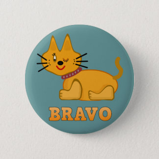 Bande dessinée courageuse de bravo de tigre de badges