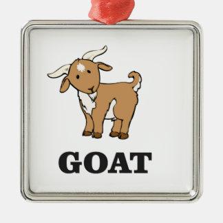 bande dessinée d'art de chèvre ornement carré argenté