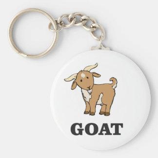 bande dessinée d'art de chèvre porte-clé rond