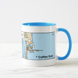 Bande dessinée de café de contrôle du trafic mug