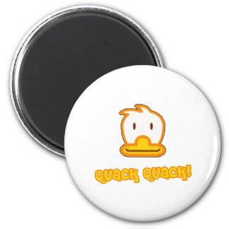 Bande dessinée de canard de bébé magnet rond 8 cm