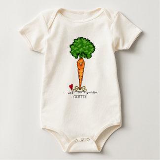 Bande dessinée de carotte - végétarienne body