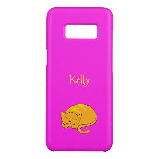 Bande dessinée de chat de sommeil Kitty Coque Case-Mate Samsung Galaxy S8