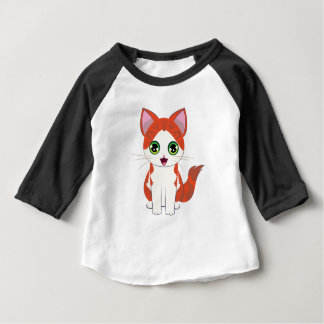 Bande dessinée de chaton de gingembre t-shirt pour bébé