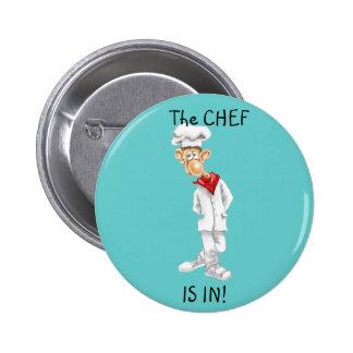 Bande dessinée de chef avec des énonciations drôle badges avec agrafe