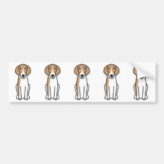 Bande dessinée de chien d'Anglo-Français de Petite Autocollant De Voiture