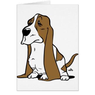 Bande dessinée de chien de basset carte de vœux