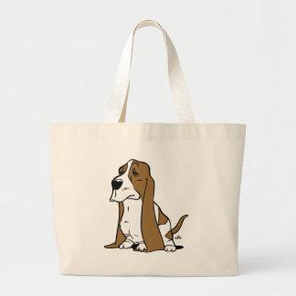 Bande dessinée de chien de basset grand sac