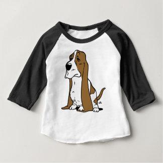 Bande dessinée de chien de basset t-shirt pour bébé