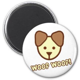 Bande dessinée de chien de bébé magnet rond 8 cm