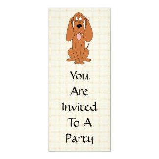 Bande dessinée de chien de Brown. Chien Carton D'invitation 10,16 Cm X 23,49 Cm
