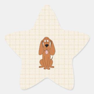 Bande dessinée de chien de Brown. Chien Sticker Étoile